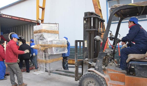 Cassava flour processing machine container will be shipped to