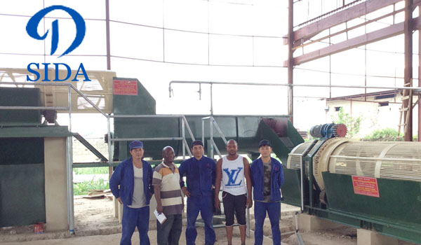 Cassava starch processing machine project in Nigeria