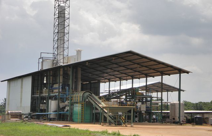 Cassava starch production plant installed.jpg