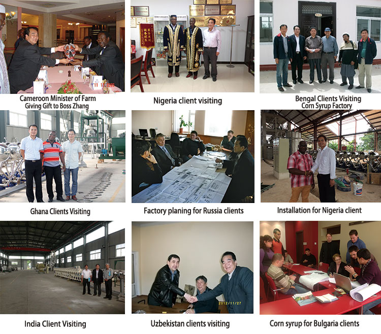 Henan mechanized sweet potato starch processing equipment exported to Nigeria